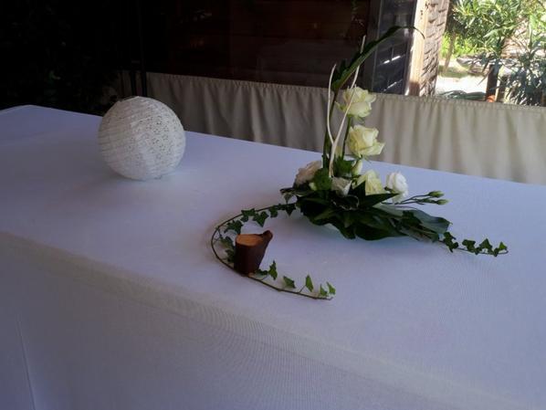 mariage de raphael et cécile réalisé par fleur'art le 18 aout2018
