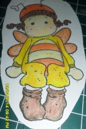 mon coloriage avec crayon aquarelable