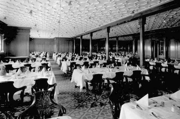 la salle manger des deuxi mes classes le titanic en 1912 On salle a manger classe