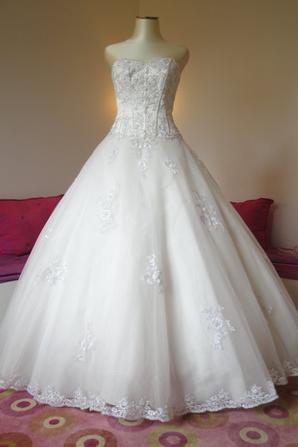 robe de mari e d 39 occasion collins pronuptia t38 blanc