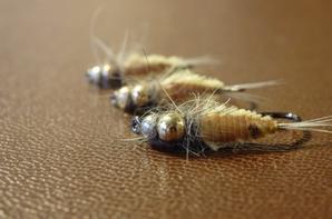 Nymphe de mouche de mai avec Troutline