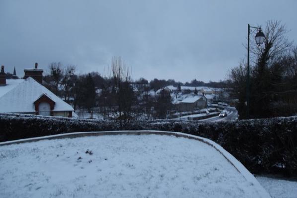 la neige ce matin au réveille