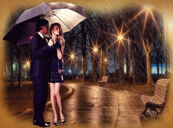 Balade sous la pluie et belle image !!