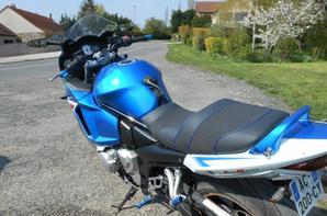Ma Moto (Bleu) et celle de mon père (noir flamming) ;)