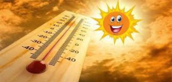 bonjour la chaleur et le soleil sont present