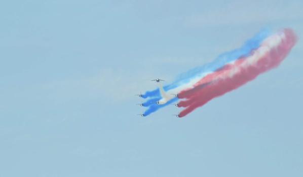 Meeting aérien à Lacanau Océan avec la Patrouille de France