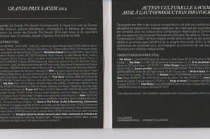 CD GRAND PRIX DE LA SACEM 2014