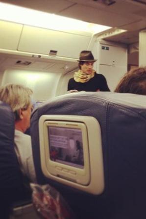 Le 16/12/12 Ian et Nina à l'aéroport de Salt Lake City