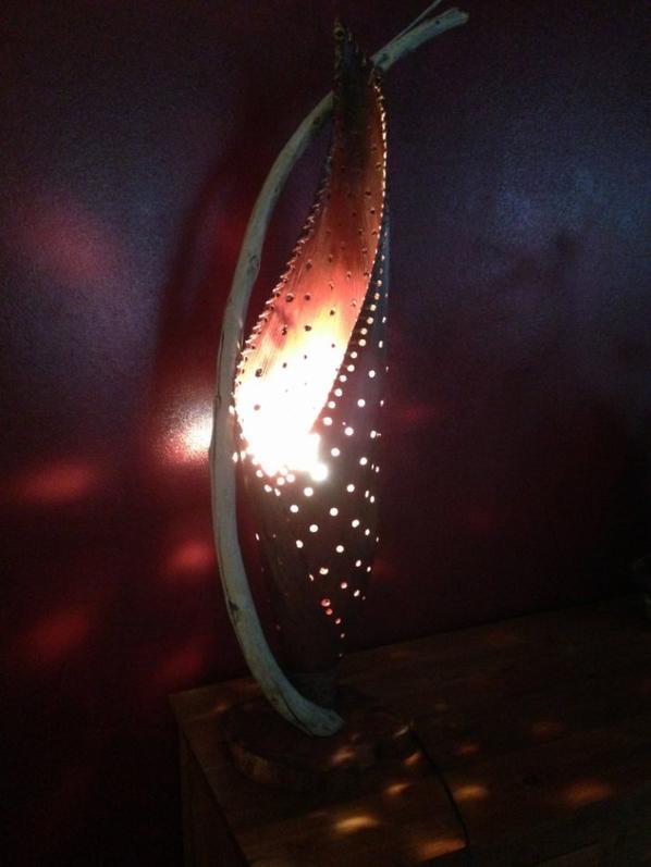 ma derniere creation (nome lampe cocon)