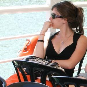 Carefree... On a boat, just so you know...