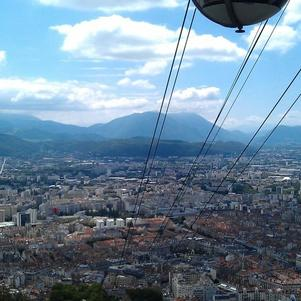 Grenoble vu de la bastille