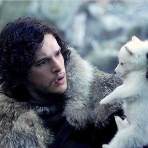 Jon Snow et Fantôme- Game Of thrones