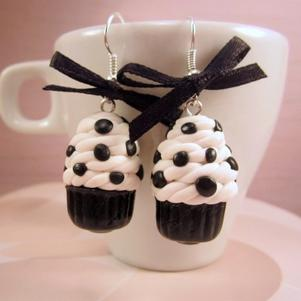 Cupcakes en boucles d'oreilles