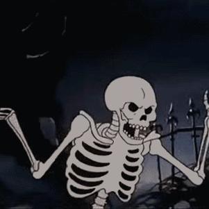 le squelette de la mauvaise humeur !!!