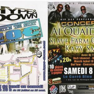 concert hiphop le 8 aout au carré bleu à poitiers