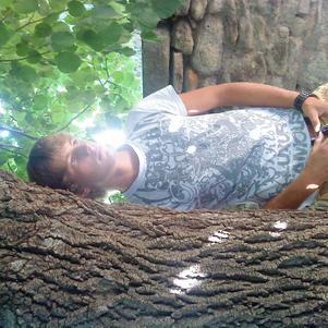 =) dans mon jardins mdr ^^
