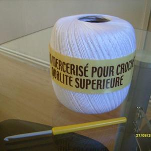 Ustensiles : coton et crochet