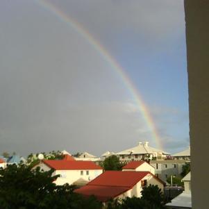 depuis mon balcon un reflet d'arcenciel