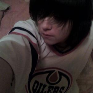 Moi et le maillot des Oilers ♥