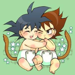 Goku et Végété bébé
