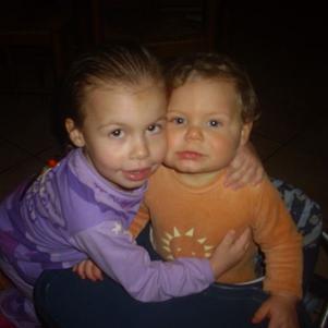 Mes bébés Célia et Hakim