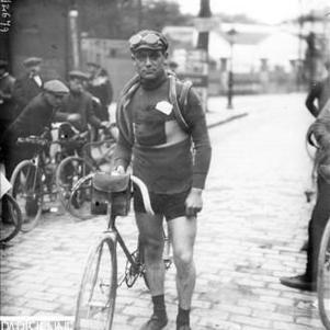 Eugene Christophe 1er porteur du maillot jaune