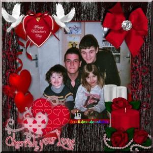 mes   enfans  et  petits  enfants    mes amours