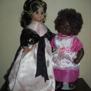 ses poupées mon été offert par deux amies très chères