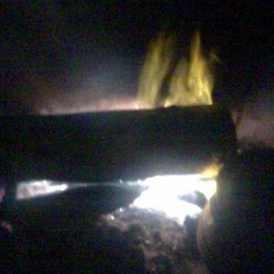 il y a du feu dans la cheminée...