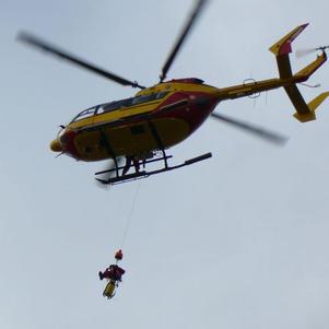 Helicoptere en Action de la Sécurité Civile