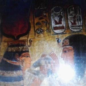 la déesse hathor,et sethi1er(papa de ramses2)