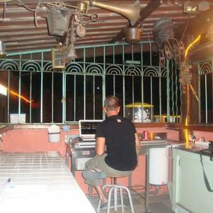 La cage du Dj du soir