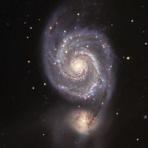 M51 la galxie des chiens de chasses visible en début d'été.