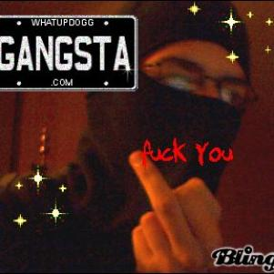 gangsta juste avec mes detraqueurs, en mode rapeur