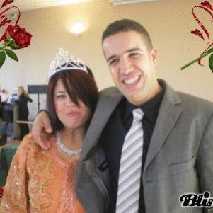 mon mari et moi , le jour de mon mariage