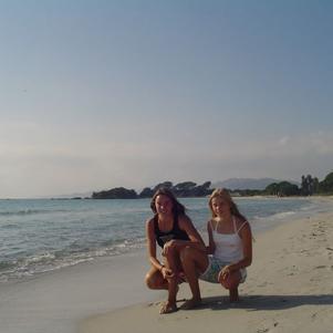 Sur les plages de Corse ...