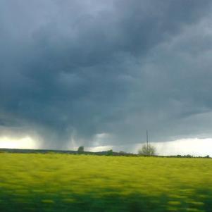 averse orageuse (le 13/04/08) vers Toulouse