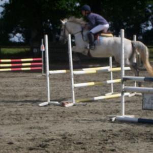médina et moi au concour de mon poney club dans la 80 cm