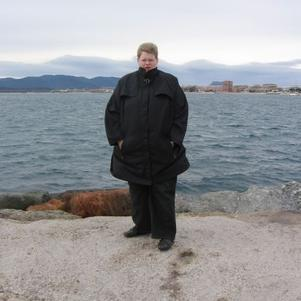 Moi dans le froid a Saint-Raphaël