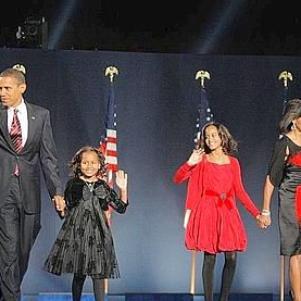 obama et sa familles