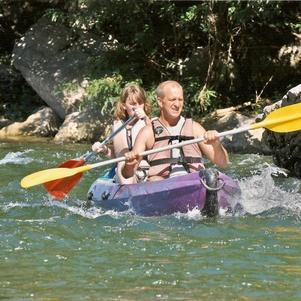 descente de l'Ardèche avec ma fille Pauline