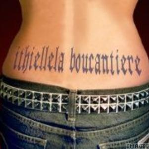 ithielle la star voici mon tatou