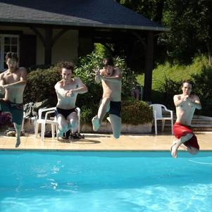 swimming cowboy pool