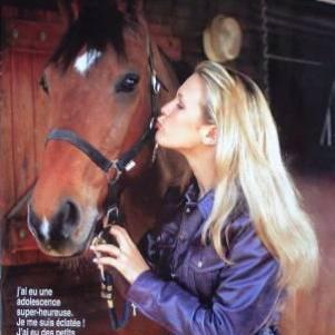Lorie & un cheval