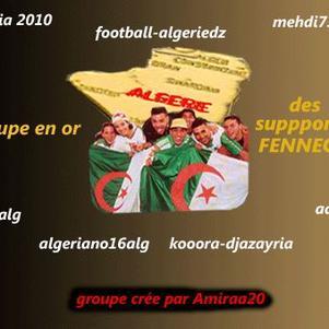 le groupe en or des supporters des fennecs