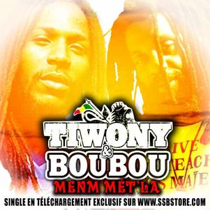 "new single TIWONY&BOUBOU ""menm mt' la"" sur www.ssbstore.com"