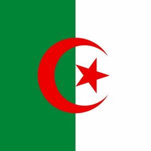 le drapeau de l'algerie avan tt