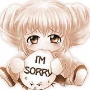 je suis désolé!