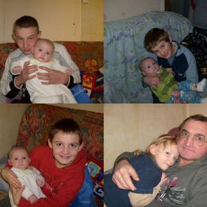 les enfants avec leur papa