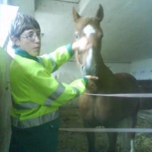 sa c'est moi avec un gentille cheval